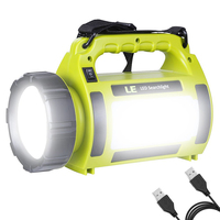 USB Bright LED Flashlight Camping Lights Portable Spotlights Searchlight Rechargeable Torch Led Camping Light Working Light