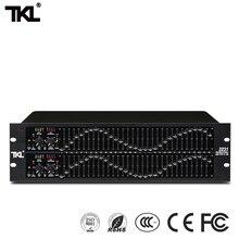 Tkl 2231 equalizador profissional eq equilíbrio misturador duplo 3u equilibrado efeito de redução ruído processador áudio para palco dj