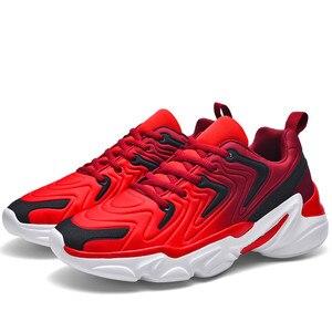 Image 1 - Zapatos deportivos De talla grande para Hombre, zapatillas De deporte masculinas informales, transpirables, con aumento De altura, 46