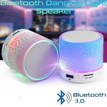 Wireless Portable Bluetooth Speaker Mini LED Music Audio TF USB FM Stereo Sound Speaker For  Phone Computer column portable speaker bluetooth sound column wireless bluetooth mini tf card speaker with led light