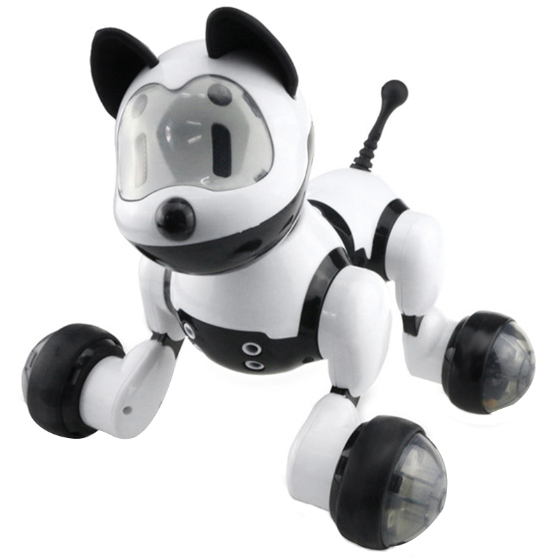 Hot-Smart Dance Robot Dog Electronic Pet Toys With Music Light Voice Control Free Mode Sing Dance Smart Dog Robot