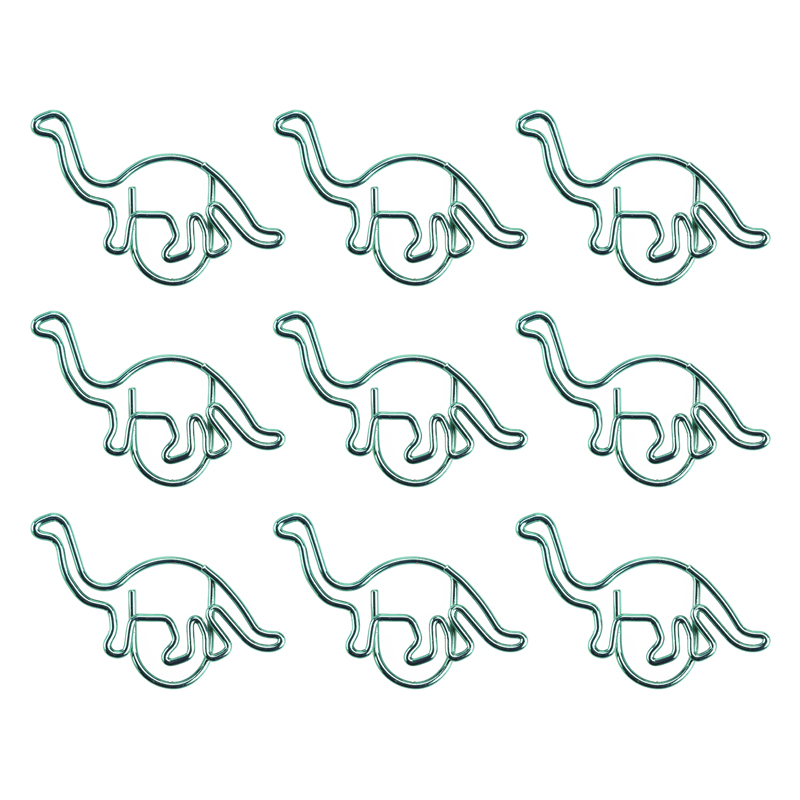Green Dinosaur Paper Clips Animal Paper Clip PaperClip Creative Shaping Pin Office Table Accessories Planner Clips Metal Clips