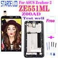 5.5 original original lcd original para asus zenfone 2 ze551ml display lcd digitador da tela de toque com quadro para asus zenfone 2 ze551ml z00ad lcd