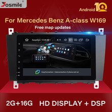 2 din android 10 rádio do carro gps multimídia para mercedes/benz w203 w209 w219 sprinta-c-classe cls c180 c200 clk200vito viano áudio(China)