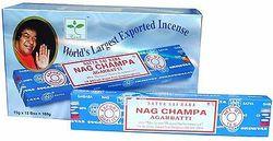 NAG CHAMPA Incense Sticks Box x 12  x15g  Packs Agarbathi