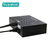 Sipolar Super Speed 5Gbps 20 Ports USB 3.0 HUB with 40A 5V built in power supply for charging and data syncs