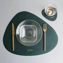 1 Набор посуды коврик столовых Настольный из искусственной кожи