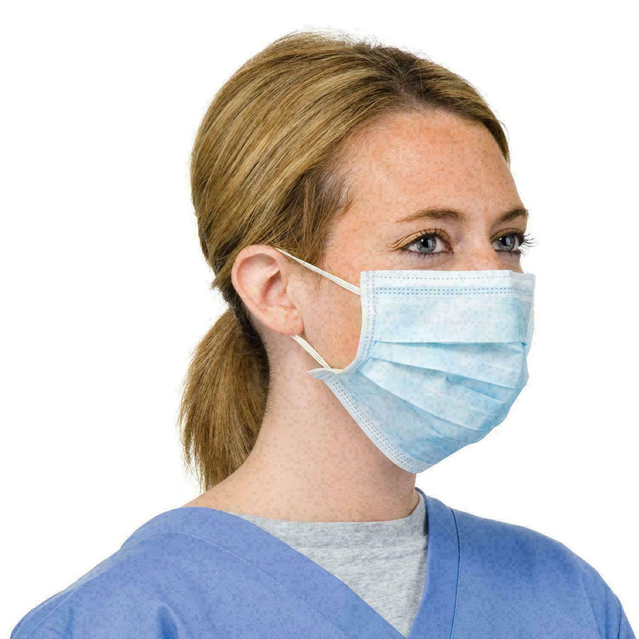 50pcs/100pcs/200pcs/ Fabric Face Mask Men And Women Blue Disposable Three Layer Protection Anti-Dust Breathable Mask