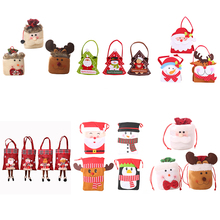 New year Christmas decorations Xmas Sticker Cartoon Doll Gift Bag cristmas Child Candy Apple Bag navidad Party weihnachten ZB991 baked doll christmas candy party dress