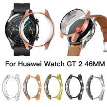 Для huawei watch GT 2 46 мм чехол Защитная крышка для экрана ТПУ все включено анти-стойкий корпус покрытие защитная рамка силикон
