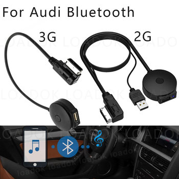 Car Bluetooth AUX Receiver Cable Adapter for VW Audi 2G 3G  MMI Systems A4 A5 A6 Q5 Q7 Audio Media AMI Interface USB