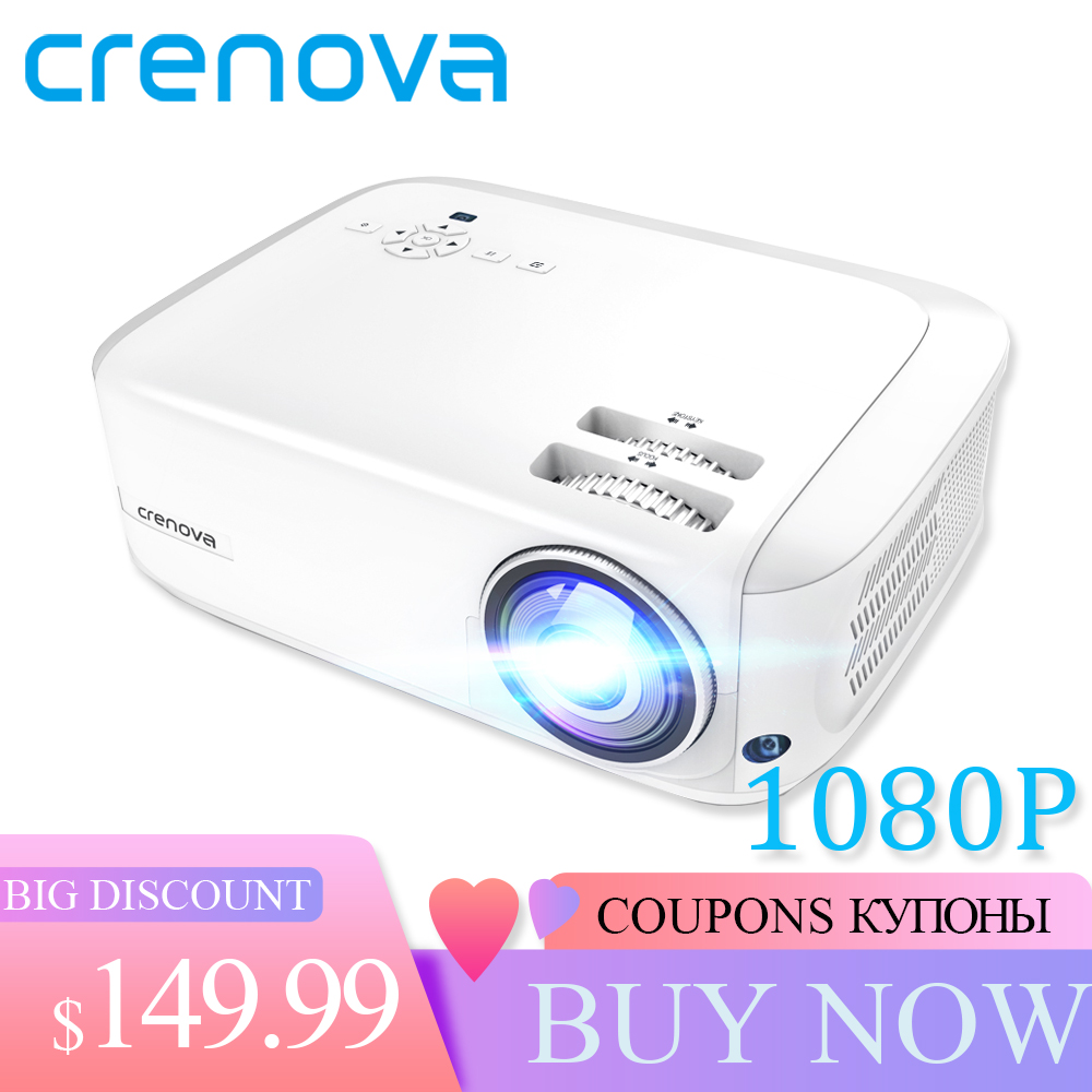 CRENOVA Newest Full HD 1080P Android Projector 6000 Lumens Android 7 1 2 OS Video Projector Support 4K Dolby 2G 16G Beamer