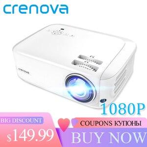 Image 1 - Crenova最新のフルhd 1080 1080pアンドロイドプロジェクター6000ルーメンandroid 7.1.2 osビデオプロジェクターサポート4 18kドルビー2グラム16グラムビーマー