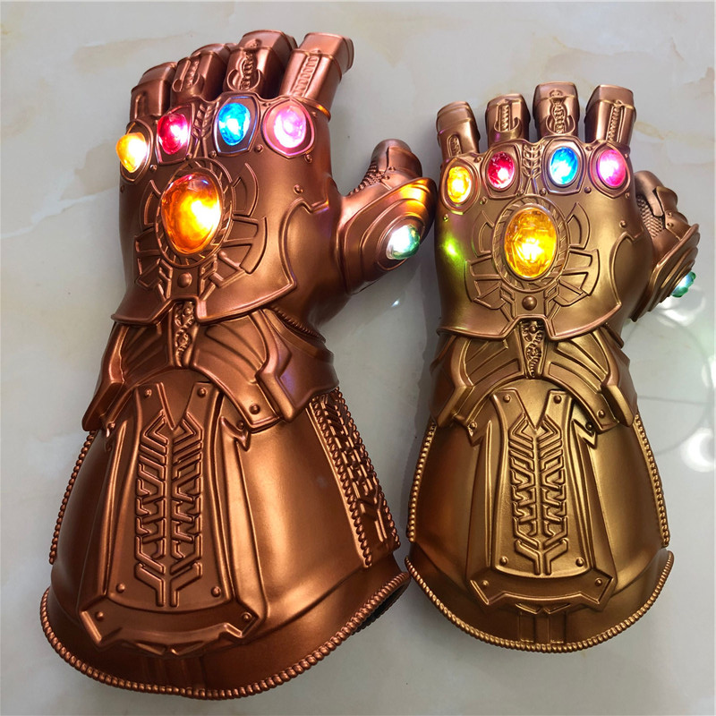 The  4 Endgame Thanos Led  Gauntlet  Stones War Led Glove Kids&Adult Halloween Gift Cosplay