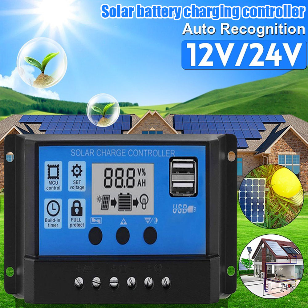 12V/24V <font><b>Solar</b></font> Battery Charge Controller 10A 40A 50A 100A for charging <font><b>solar</b></font> <font><b>panel</b></font> & battery power supply <font><b>solar</b></font> system image