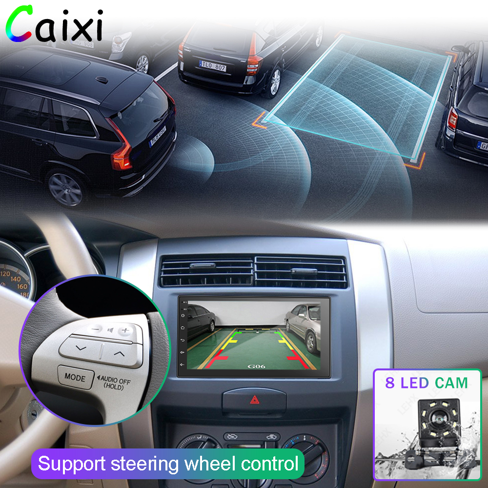 Image 4 - 2 Din Android 8.1 Car Radio Multimedia  For Nissan Volkswagen TOYOTA Honda KIA Hyundai  mazda Universal auto Stereo GPS MAP-in Car Multimedia Player from Automobiles & Motorcycles