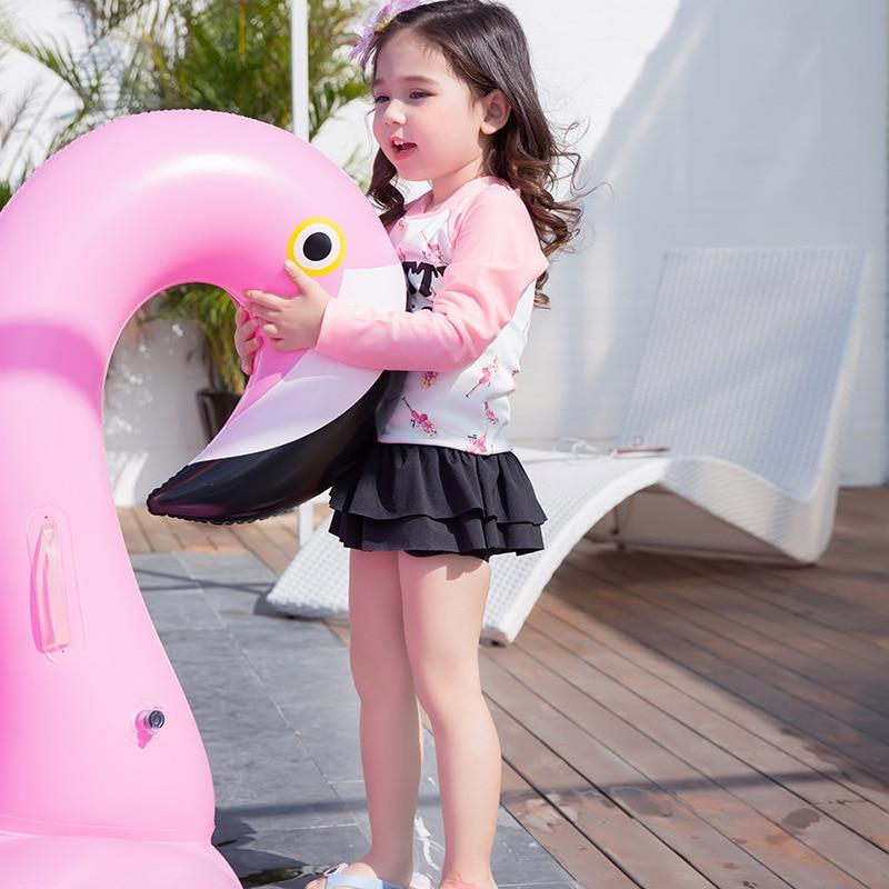 2017 Comfortable New Style KID'S Swimwear Barbie Girls' Two-piece Swimsuit Sun-resistant Children Baby Hot Springs Swimwear