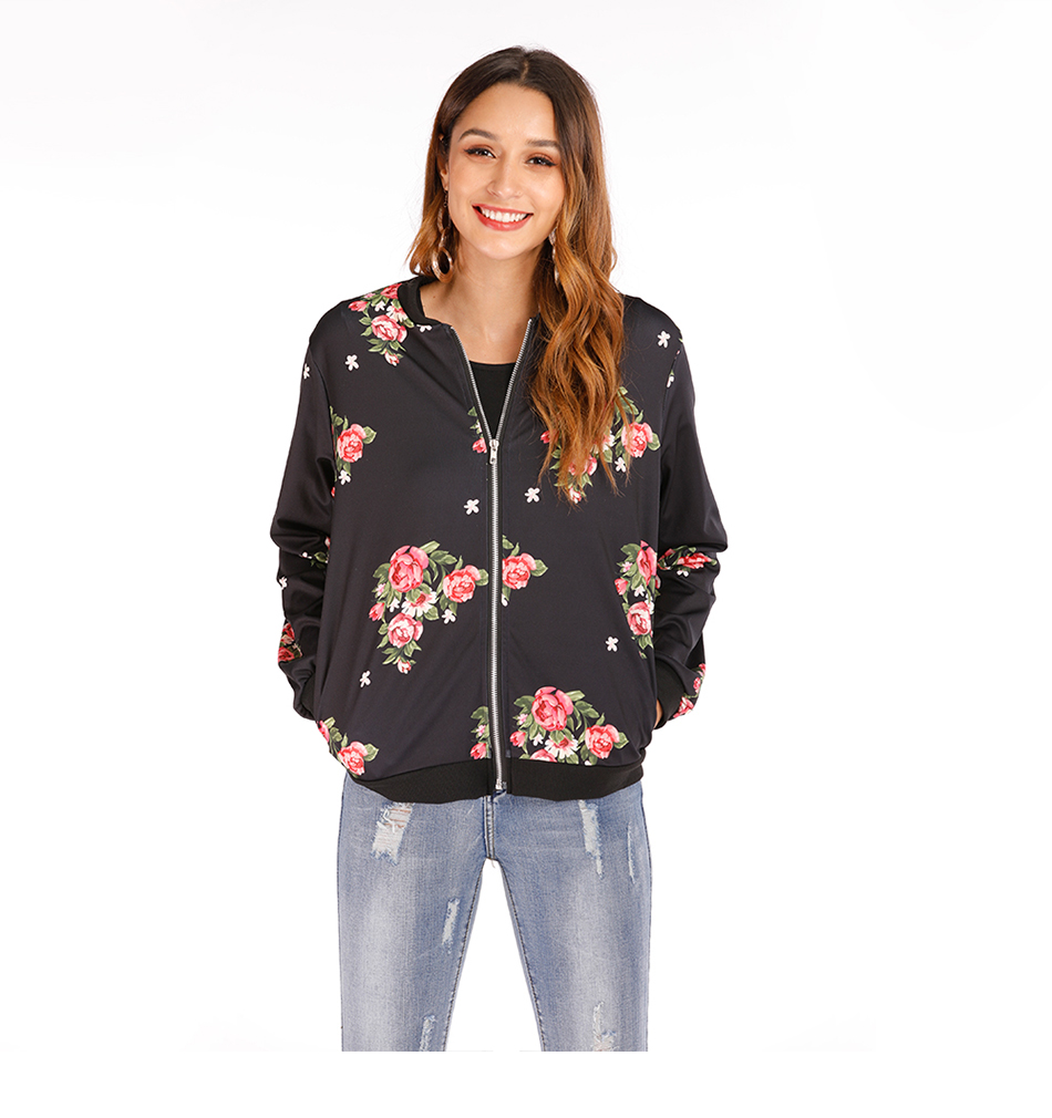 H294f6b8fd03347ceb015cfc279a6b660i Plus Size Spring Women's Jackets Retro Floral Printed Coat Female Long Sleeve Outwear Clothes Short Bomber Jacket Tops 5XL