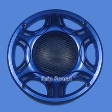 "6.5 ""inç araba ses hoparlör dönüşüm Net kapak Subwoofer dekoratif daire Metal Mesh Grille 165mm # mavi"
