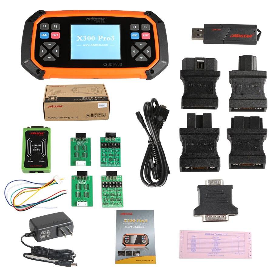OBDSTAR X300 PRO3 X-300 Key Master z immobilizerem + regulacja licznika kilometrów + EEPROM/PIC + OBDII + T oyota G & H Chip wszystkie klucze utracone