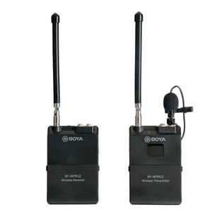 Image 1 - BOYA BY WFM12 12CH Wireless Audio VHF Microphone WIRELESS MICROPHONE SYSTEM TRANSMITTER RECEIVER for DSLR Camera Canon Camcorder