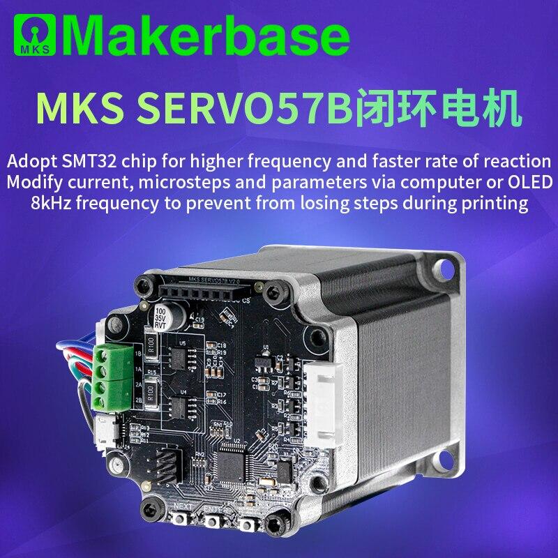 Makerbase MKS SERVO57B NEMA23 STM32 Closed Loop Stepper Motor Driver CNC 3d Printer Parts Prevents Losing Steps For Gen_L SGen_L