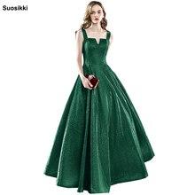 Купить с кэшбэком Suosikki 2018 New Personality Evening Dress vestido de festa Sexy Black Long Sequin prom gowns Formal Party dress
