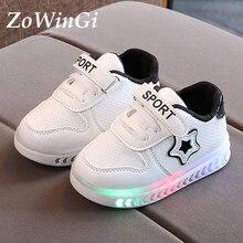 Größe 21-30 Glowing Turnschuhe für Jungen Baby Casual Schuhe Wasserdichte Sport Schuhe Deckel Licht up Schuhe für Mädchen kinder casual schuhe