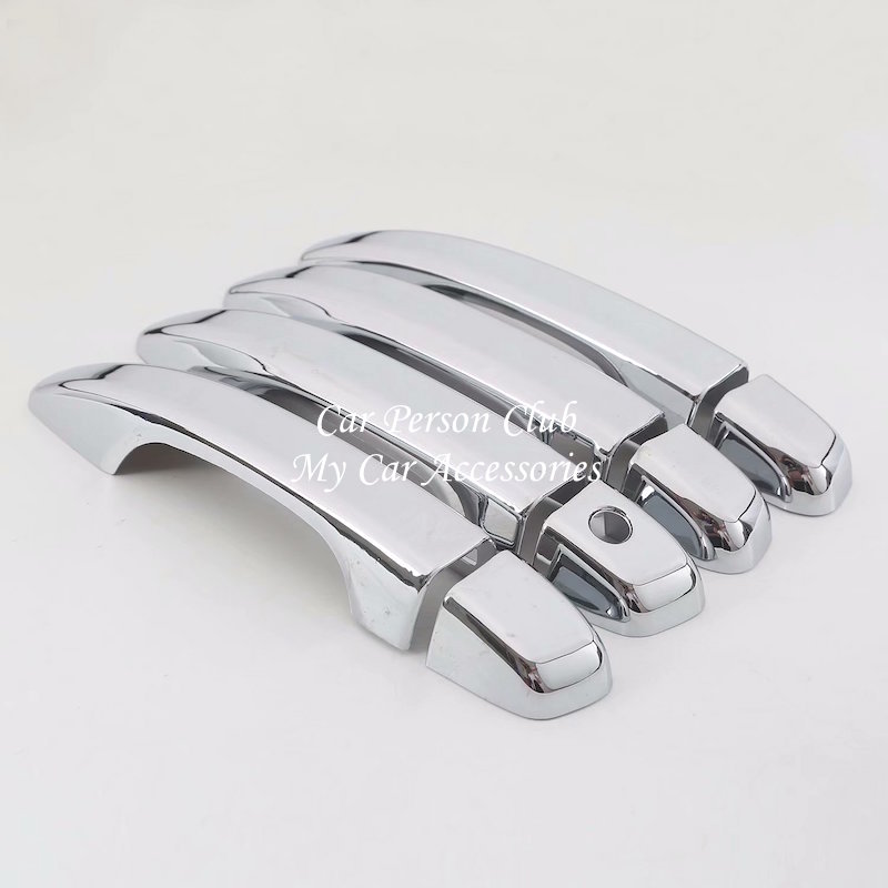 ABS Chrome Sticker Car External Outer Door Handle Bowl Frame Cover Trim For Honda Accord 10th 2018 2019 Auto Molding Accessories Chromium Styling     - title=