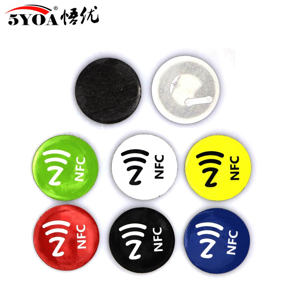 6pcs/lot NFC Tags Stickers Anti Metal Ntag213 Adhesive Label Metallic Sticker Universal Lable RFID Tag For All NFC Phones