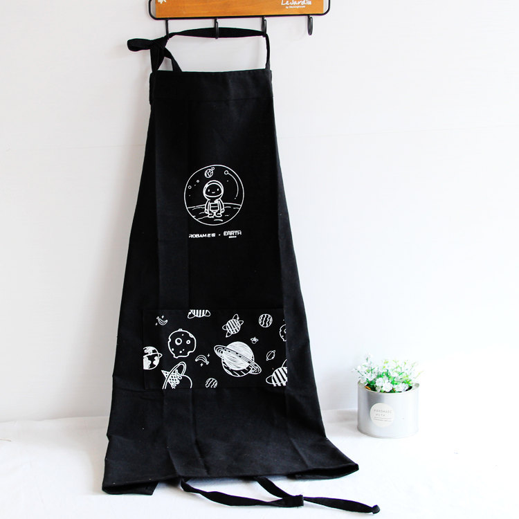 Korean-style Cotton Linen Sleeveless Apron Oil Resistant Cleaning Protective Clothing Kitchen Home Cooking Men And Women Cute Ov