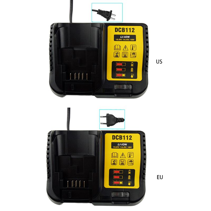 DCB112 Charger For Alternative Dewalt Genuine 12V 20V MAX Li-ion XR Battery 448A