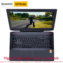 "15.6 ""Intel Core I7-7700HQ NVIDIA GTX1060 Khusus Graphics Windows 10 8GB RAM 512GB SSD Permainan Laptop Backlit keyboard Notebook(China)"