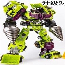 Transformação oversize ko gt jinbao devastator figura brinquedo