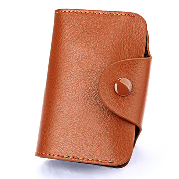 TRASSORY Rfid Blocking 15 Slots Genuine Leather Business Credit ID Card Holder Purse Women Small Security Card Wallet zoress genuine leather women fashion card holder 22 card slots large capacity girls id credit card case bag purse wallet 8 color