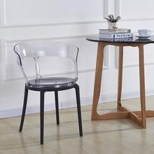Transparent PC Plastic Dining Chair Restaurant Suitable for Dining Chair Modern Restaurant Office Home Bedroom PC Plastic Chair цена и фото