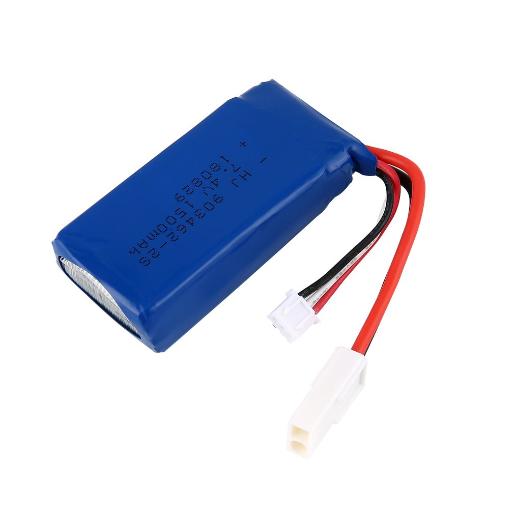 2019 2pcs <font><b>7.4V</b></font> <font><b>1500mAh</b></font> Lipo Rechargeable <font><b>Battery</b></font> with 2 IN 1 <font><b>Charger</b></font> for RC FT009 Boat Ship Spare Parts Accessories Component image