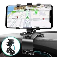 ANMONE-soporte para salpicadero de coche, espejo retrovisor, soporte plegable para teléfono móvil, navegación GPS, Smartphone