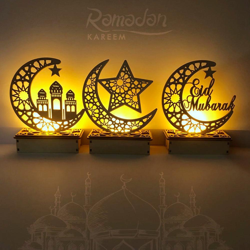 Image 5 - Ajuda ofícios de madeira eid mubarak decoração ramadã e eid  decoração para casa islâmica muçulmano festa suprimentos ramadan kareem  eid al adhaDecorações de festas DIY