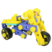 Multi functional nut assembly and disassembly wooden toys DIY children's puzzle assembly car building blocks