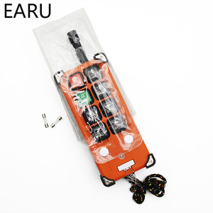 Image 4 - Interruptores de controle remoto industrial sem fio grua guindaste elevador controle 1 transmissor + 1 receptor F21 e1b 6 canais