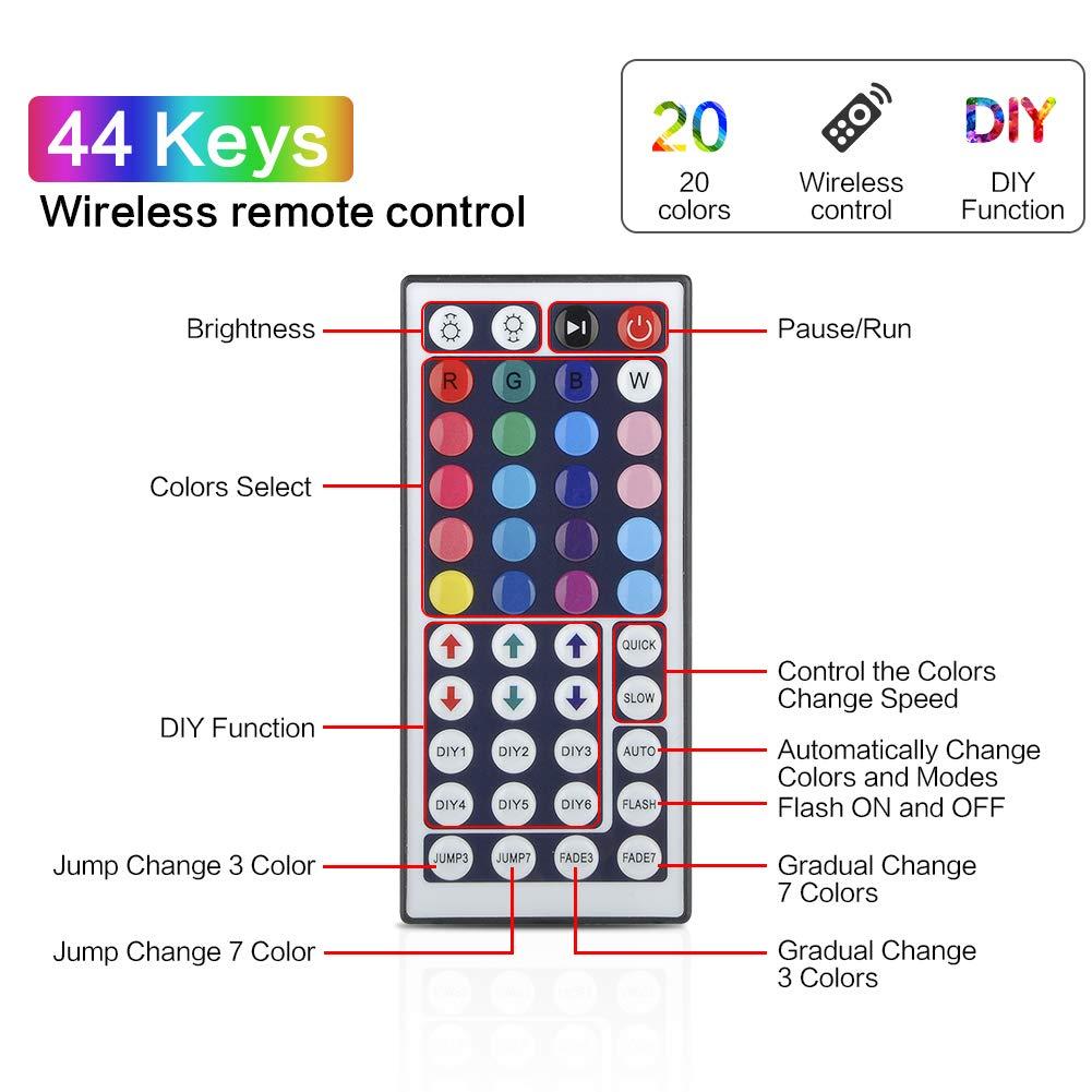 H2950b35854004f5095f199ae58075614O RGB LED Strip Light RGB 5050 SMD 2835 Flexible Ribbon fita led light strip RGB 5M 10M Tape Diode DC 12V Remote Control Adapter