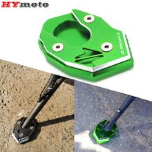 CNC Kickstand Accessories For Kawasaki Z900 Z900RS Z 900 RS 2017   2019 2020 2021 Motorcycle Plate Extension Pad Stand Enlarger