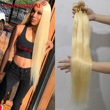 Tissage en lot 613 naturel Remy lisse blond 100%, 36 38 40 pouces, Extensions de cheveux, 3/4