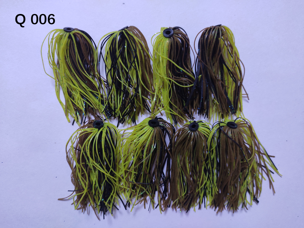 8 Bundles 50 Strands Silicone Skirts Wire Fishing Accessories For Buzzbait SpinnerBait Jig Bass Lure Q 006