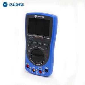 Солнечный осциллограф мультиметр Ручной DC тестер переменного тока 2 в 1 напряжение тока многофункциональный 6000 ярдов 40 МГц цифровой мультиметр
