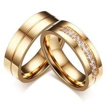 Modyle 2020 novo ouro-cor cz anéis de casamento do amante zircônia cúbica de aço inoxidável anel romântico jóias