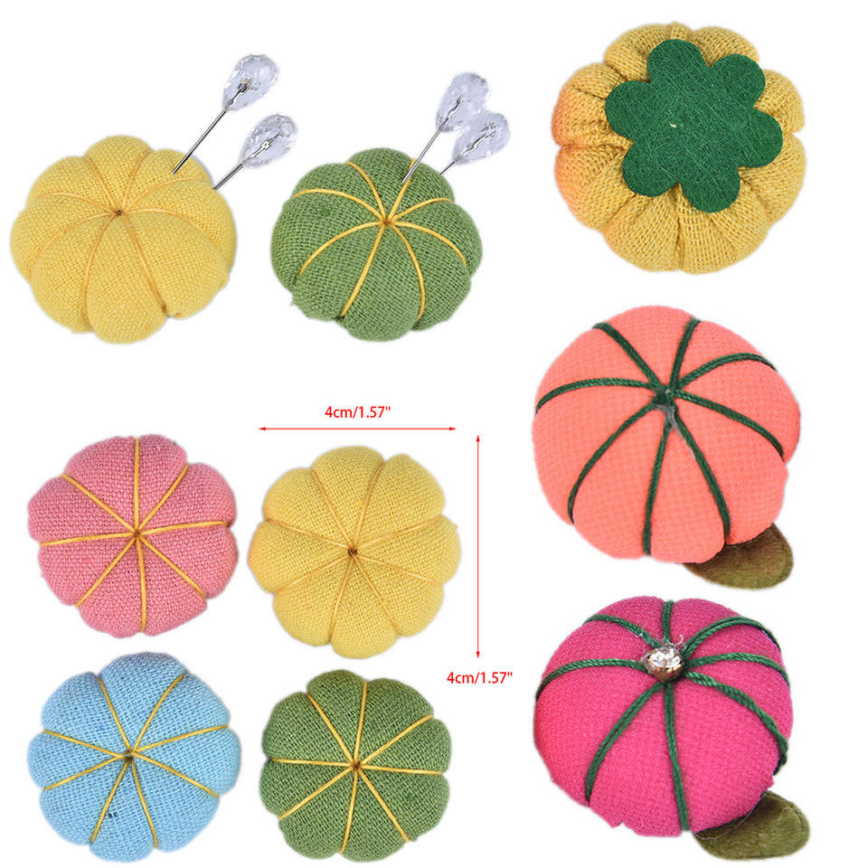 Ramdon Color Wearable Pumpkin Sewing Pincushion Needle for Needlework/or DIY Crafts Pin Cushion Ring