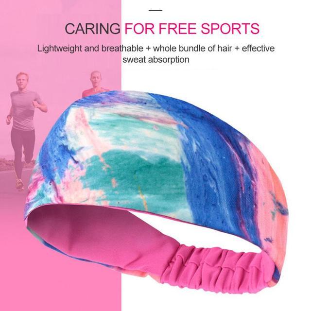 Lycra Sports Headband Breathable Sweat Absorption Antiperspirant Cycling Yoga Belt Basketball Fitness Running Sweat Guide Turban 1