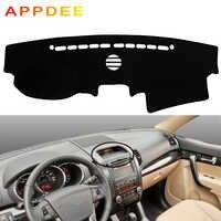 APPDEE Car Auto Inner Dashboard Cover Dash Mat Cape Carpet Dashmat Pad Cushion 2 Layers For Kia Sorento 2009 2010 2011 2012